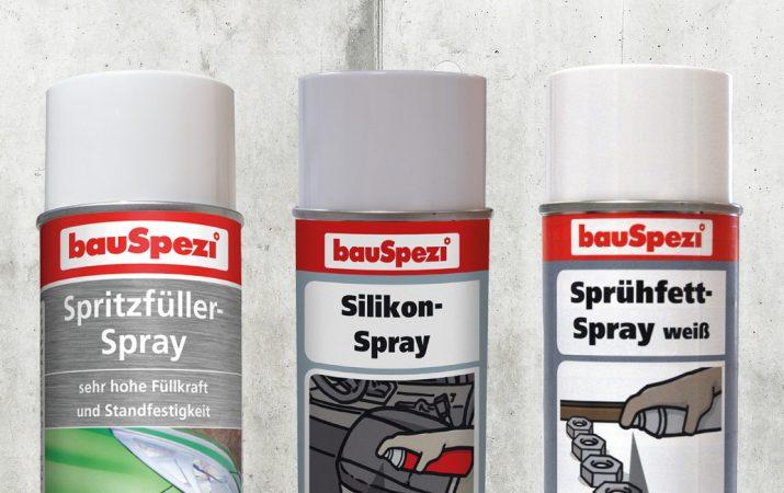 bauSpezi Eigenmarke Technische Sprays
